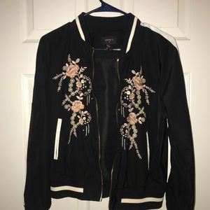 Rose embroidered jacket